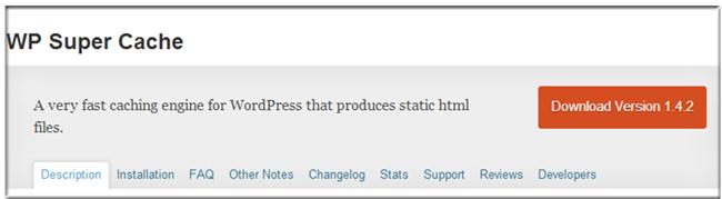 WordPress Cache Plugin - WP Super Cache