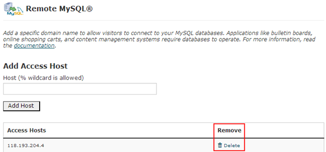 Authorize MySQL Connection in the cPanel Interface-3