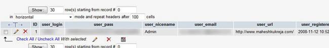 Change wordPress Username via phpMyAdmin 3.1