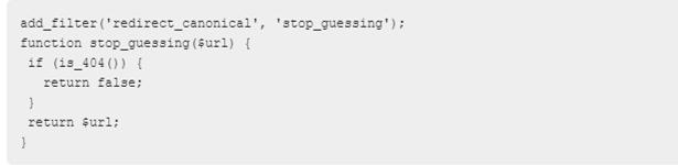 Prevent WordPress Guessing URL Option