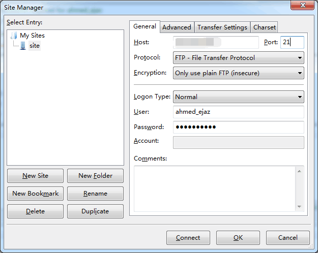 Setting Up FTP Connection with FileZilla 3