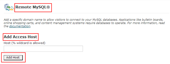 Authorize MySQL Connection in the cPanel Interface-2