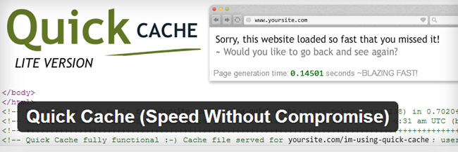 WordPress Cache Plugin - Quick Cache