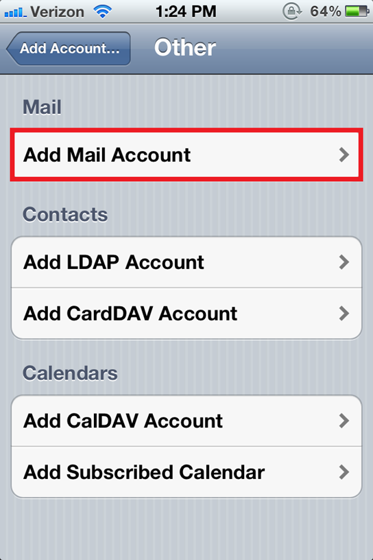 Configure an Eamil Account on iPhone 2