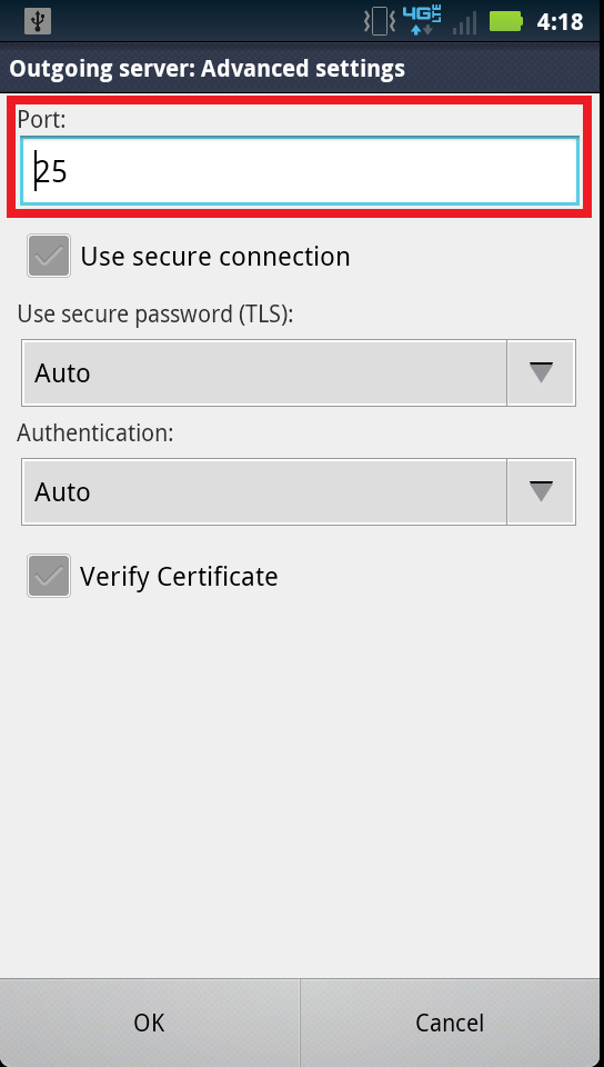 Configure an Eamil Account on Andriod Phone 5