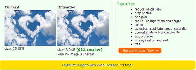 image optimization webresizer