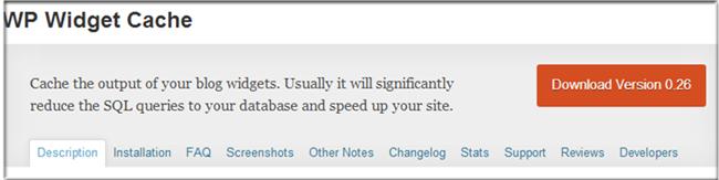 WordPress Cache Plugin - WP Widget Cache