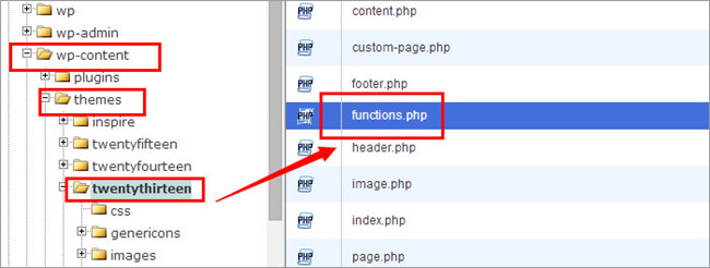 Add tracking code to functions.php file-1
