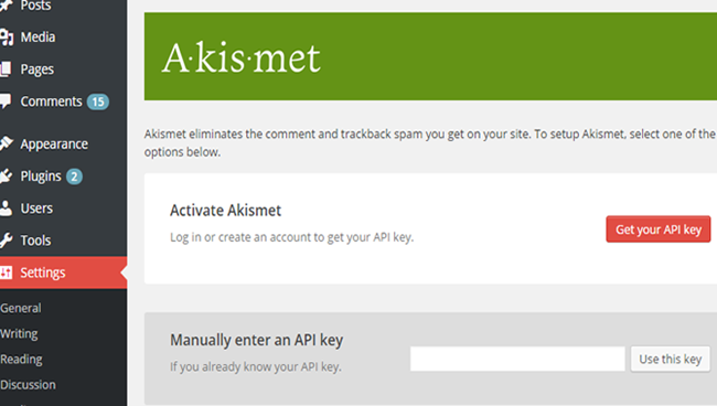Use Akismet for WordPress security-1