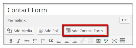 Create WordPress Contact Form 1